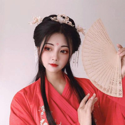 F-0756 Bride Chinese style Pink pearl tassel hairpin haircomb earrings set Xiuhe clothing headdress Hanfu accessories Jewelry