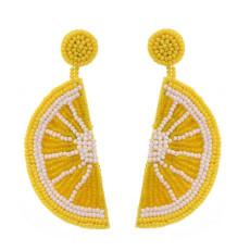 E-5739 Cute Fashion Beaded Fruit Earrings Soft Cloth Earrings