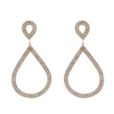 E-5749 Fashion Crystal Tassel Water Drop Earrings Jewelry