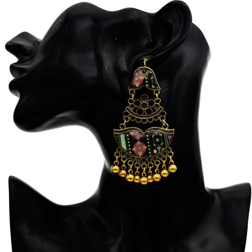 E-5760 Vintage Fashion colorful flower bead earrings Jewelry