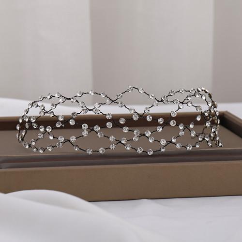 F-0762 European and American simple rhinestone mesh hair band hand-woven hair band hair accessories