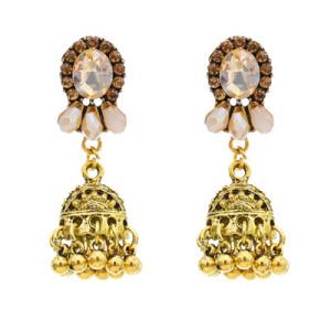 E-5789 Indian Diamond Rhinestone Drop Dangle Earring for Woman Tassel Earring