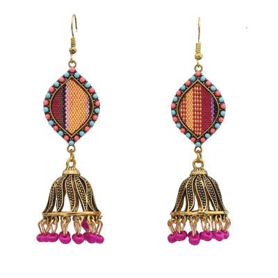 E-5792 Fashion Colorful Rhinestone Bells Drop Dangle Earrings for Women