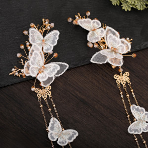 F-0767 New fringe costume Hanfu headdress suit ladies fairy hair accessories ancient style hair accessories