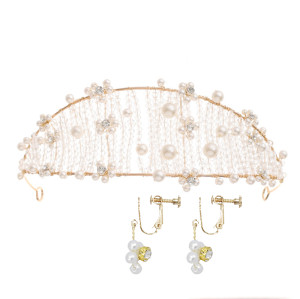 F-0768 Vintage Crystal Braided Hairband Crown Wedding Headdress Jewelry