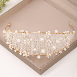 F-0768 Vintage Crystal Braided Hairband Crown Wedding Headdress Jewelry