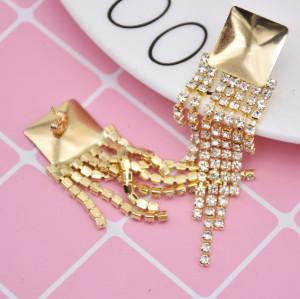 E-5811 Fashion shiny crystal tassel earrings Jewelry