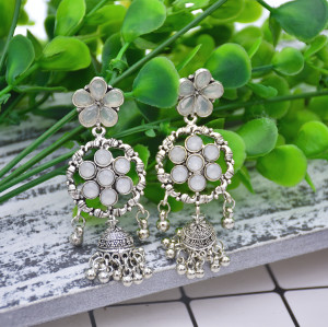 E-5816 Fashion Crystal Flowers Bells Drop Dangle Earrings for Women Jewelry
