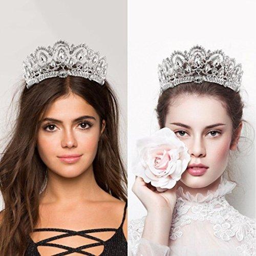F-0771 New Arrival Baroque Big Rhinestone Crystal Beaded Bride Crown Headband Tiara Wedding Headpiece Headband