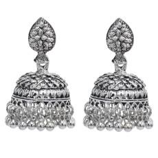 E-5846 Indian Jhumka Earrings for Women Vintage Silver Gold Metal Bells Tassel Earring Ethnic Party Jewelry