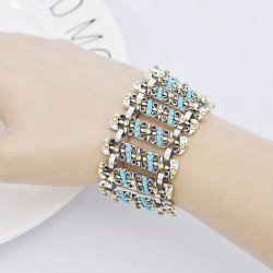 B-1050 Adjustable Section Rhinestone Retro Bracelet Charm Bracelet
