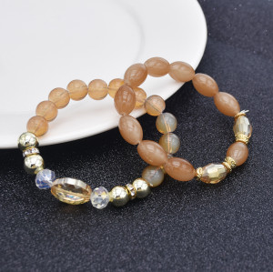 B-1051 4Pcs/Set Boho Style Beaded Adjustable Bracelets For Women Charming Jewelry Accessory