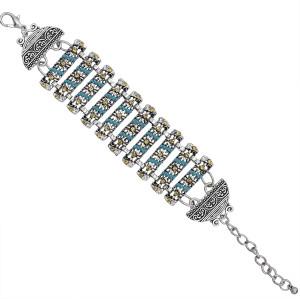 B-1050 Adjustable Section Rhinestone Retro Bracelet Charm Bracelet