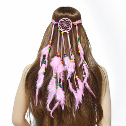 F-0776 Fashion Handmade Ethnic Feather Hairbands Women Boho Hairband Hair Accessory