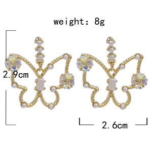 E-5863 Fashion Rhinestone Butterfly studs Earrings for Women Wedding Party Jewelry Gift