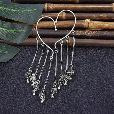 E-5864 Fashion Ethnic Long Jhumka Earrings Indian Jewelry Gypsy Bell Tassel Women Statement Afghan Egypt Turkish Earrings Jewelry