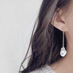 E-5866 Fashion summer Rhinestone Imitation pearls tassel Earrings for Women Wedding Party Jewelry Gift