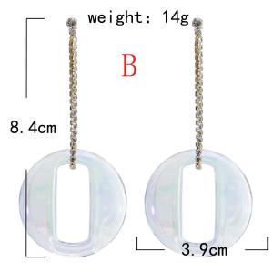 E-5871 Korean Fashion butterfly water round shape drop Earrings summer Jewelry