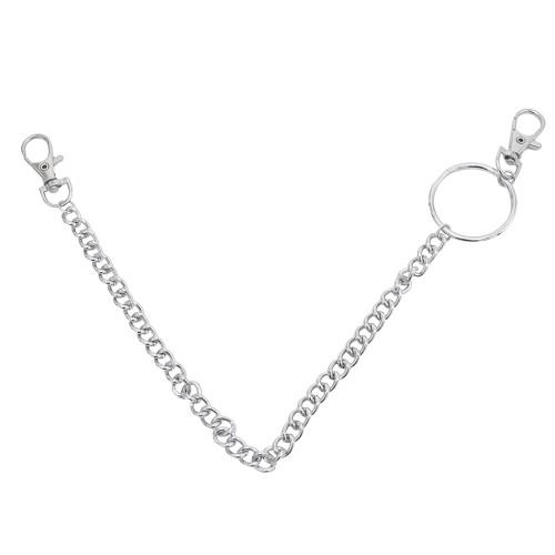 N-7397 Punk Street Waist Chain Women Men Pants Chain Multi Layer HipHop Link Trousers Keychain Jewelry