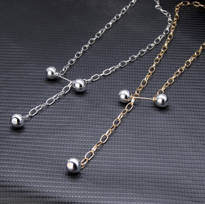 N-7398 Chain Style Exaggerated Pearl Sexy Necklace Party Jewelry