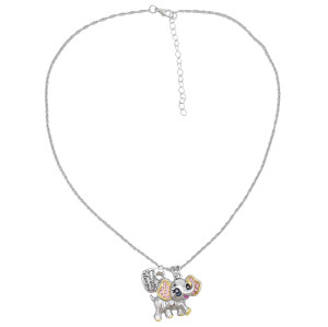 N-7403 Fashion Diamond Small Animal Love Pendant Clavicle Chain Necklace