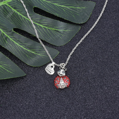 N-7403 Fashion Diamond Small Animal Love Pendant Clavicle Chain Necklace
