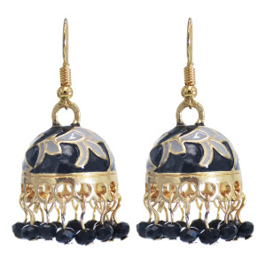 E-5891 Vintage Gold Alloy Bells Tassel Birdcage Indian Jhumka Earrings for Women Bohemian Party Jewelry
