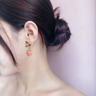E-5892 Korean New Arrival Sweet Crystal Holiday Flower Stud Earrings For Women Fashion Elegant Oorbellen Bijoux Party Gifts