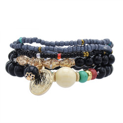 B-1073  European and American Fashion Trend  Beaded Alloy Bracelets Bohemian Ethnic Style Ladies Jewelry Party Gifts