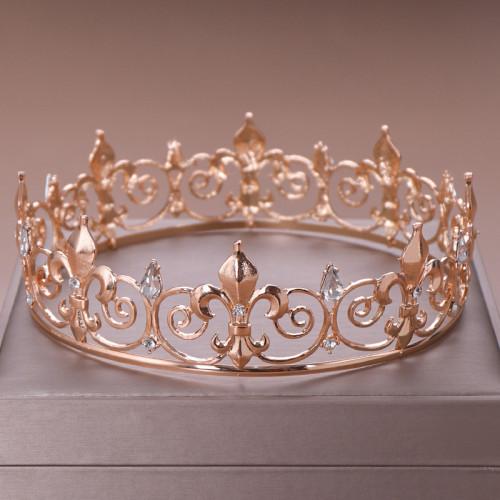F-0791  Fashion gold silver alloy shiny crystal big crown Jewelry