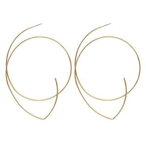 E-5913  Fashion Round Dangle Drop Korean Earrings For Women Geometric Round Gold Earring Wedding Jewelry