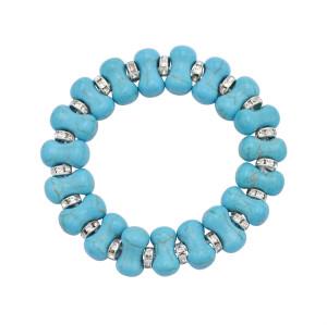 B-1079  5Styles Bohemian Heart Tortoise Bone Shape Turquoises Beaded Statement Bracelets for Women Party Jewelry Gift