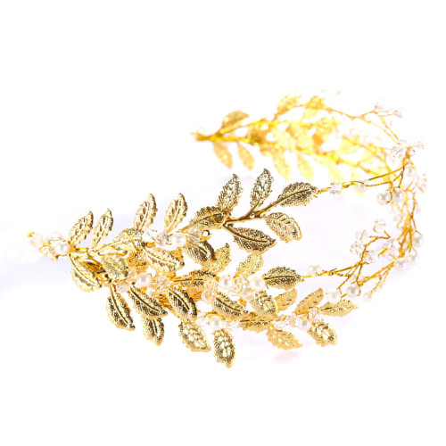 F-0798  Fashion Women Gold Plated leaves Headband Hairband Hair Accessories Jewelry