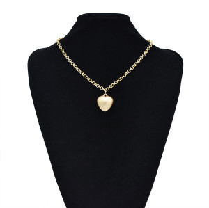 N-7417 Fashion Gold Chain Heart Pendant Necklaces & Bracelets Sets for Women Bohemian Party Holiday Jewelry Set