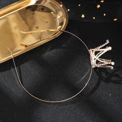 F-0805  Children's Crown Boutique Hair Accessories Korean Princess Rhinestone Crown Little Girls Birthday Hair Band Accessories
