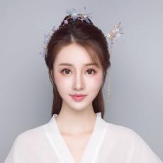 F-0800  New Women Hanfu Pearl Long Tassel Flower Hair Sticks Hairpins Hair Combs Set Chinese Style Hair Accessories