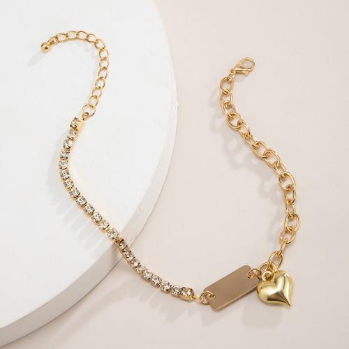B-1085  Women Anklets Simple Heart Barefoot Crochet Sandals Foot Jewelry Bracelet Anklets Jewelry