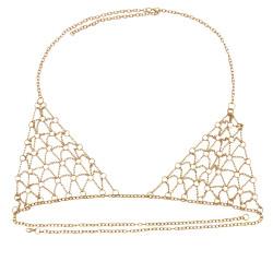 N-7422  Vintage style Gold Metal mesh bra Body Chain Jewelry Sexy Girls waist Chain Body Jewelry