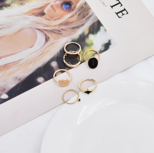 R-1531   2 Bohemian Vintage Gold/Silver Joint Ring Ring Short Ring Party Gift Jewelry