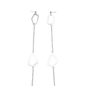 E-5937  Fashion geometric earrings pendant earrings ladies bib chain earrings  jewelry