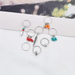 E-5936  Boho style hair accessory necklace accessory set