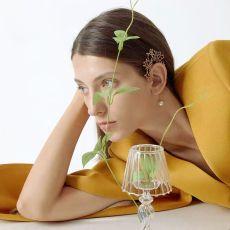 E-5948  Fashion Asymmetric earrings leaves crystal pearl tassel ear clip ear studs For Women Jewelry gift
