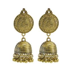 E-5958 Vintage Indian Jhumka Earrings for Women Bohemian Gold Silver Metal Bells Tassel Earring Gypsy Party Jewelry Gift