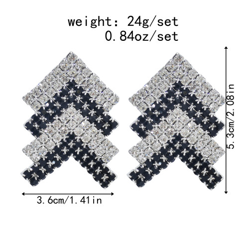 E-5962 Creative colorful crystal V shape drop Earrings for Women Girls stud Earrings Christmas Jewelry Gift