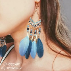 E-5967 Bohemian Vintage gold Metal Long Feather Tassel Drop Dangle Earring Gypsy Tribal Festival Party Jewelry Gift