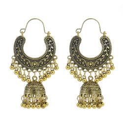 E-5973 Indian Jhumka Jhumki Drop Earrings for Women Bells Long Tassel Statement Earring Gypsy Tribal Jewelry Gift