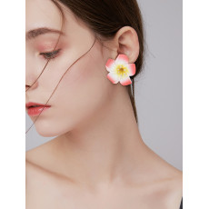 E-5979 Bohemian Fashion purple white red Big Flower stud Earring Festival Party Jewelry Gift
