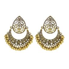 E-5995 Vintage Hollow Dangle Earrings for Women Indian Ethnic Jhumka Bells Drop Earrings