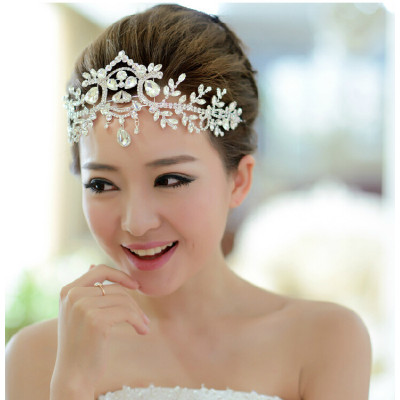 F-0835 Bridal Rhinestone  Headband Crystal Flower Boho Forehead Accessories Hair Jewelry