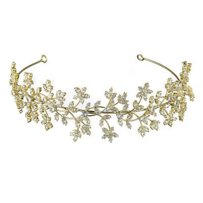 F-0839 Bridal rhinestone headband crystal flower bohemian style ladies headwear accessories hair accessories jewelry gifts
